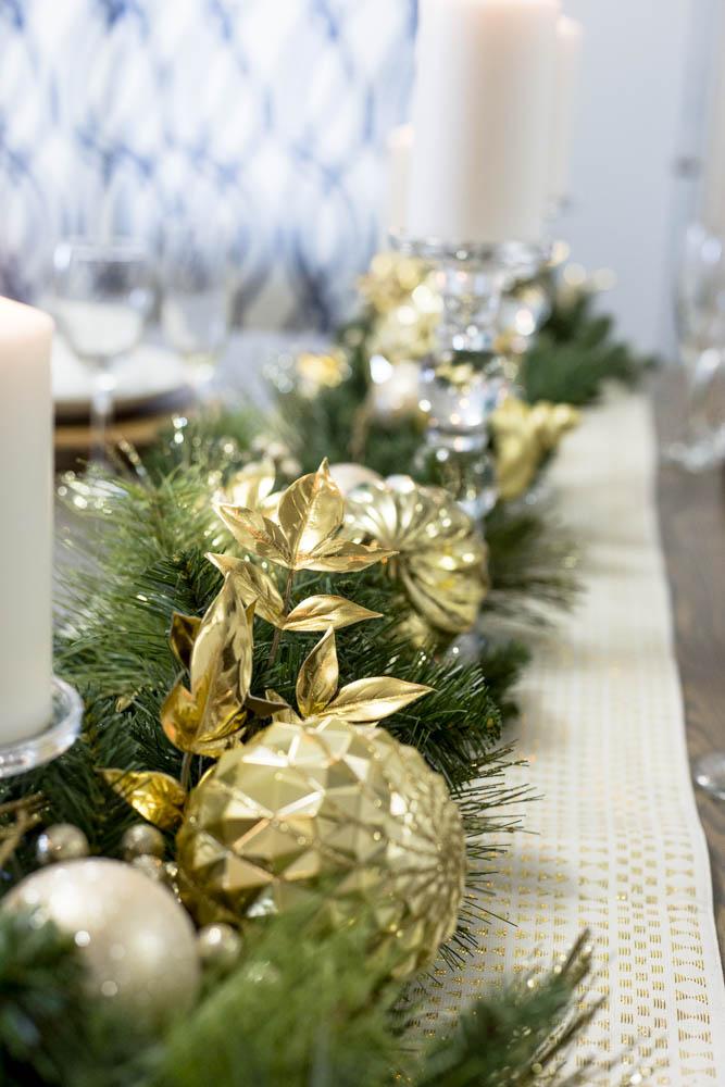 Christmas Table Decor Garland Runner