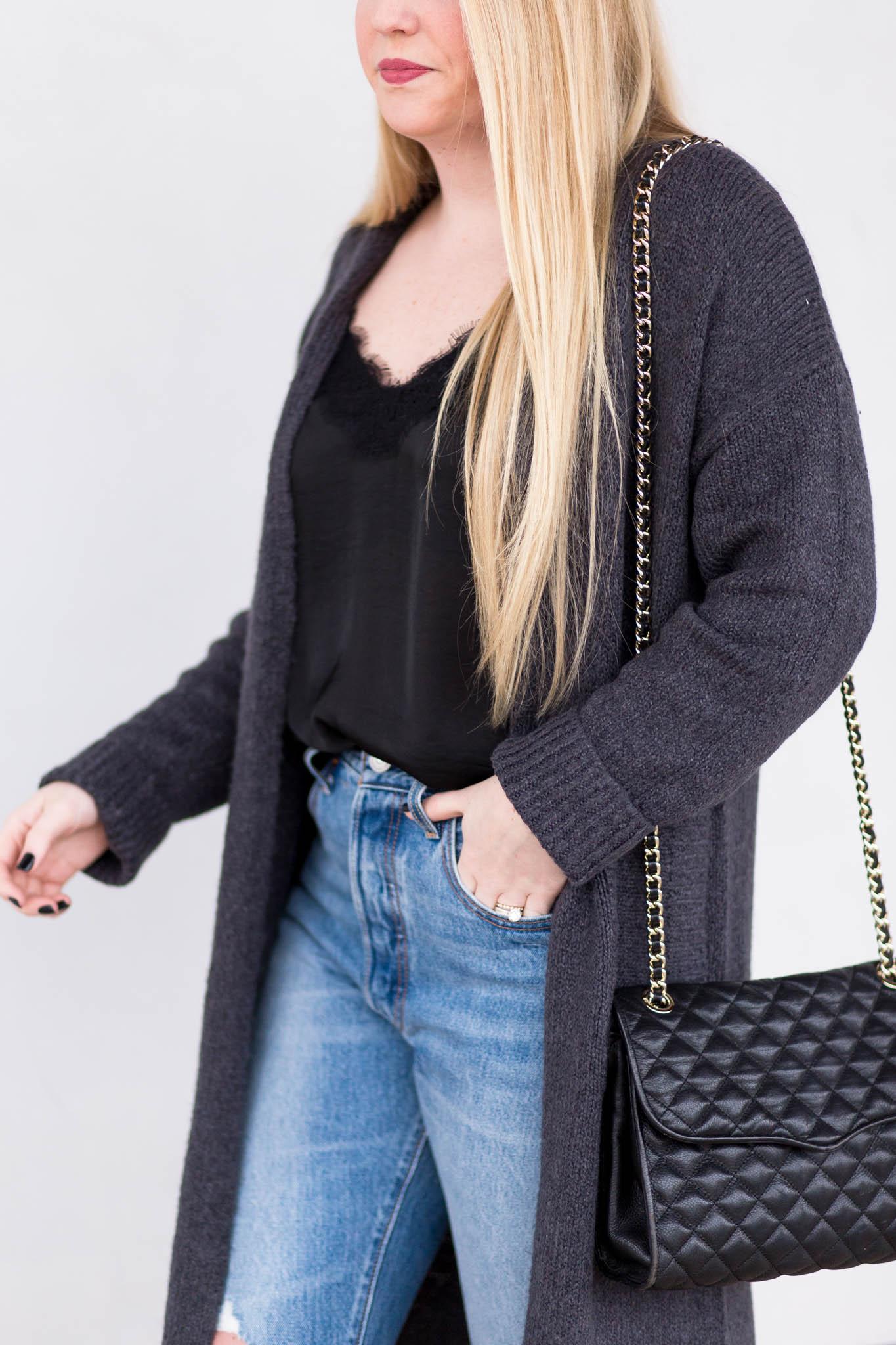 How to wear a longline cardigan