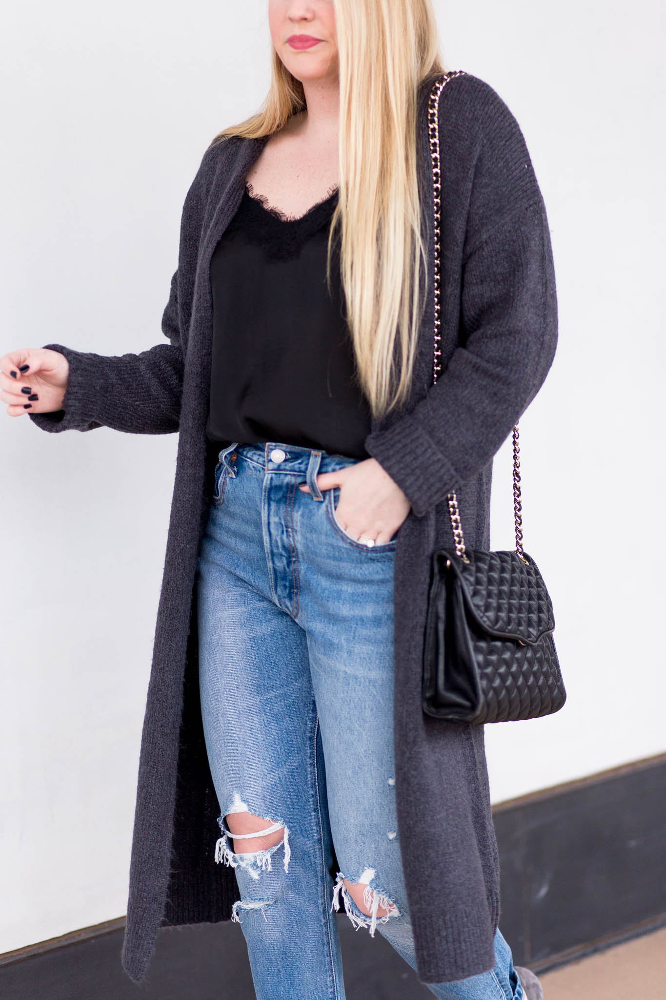 How to wear a longline cardigan