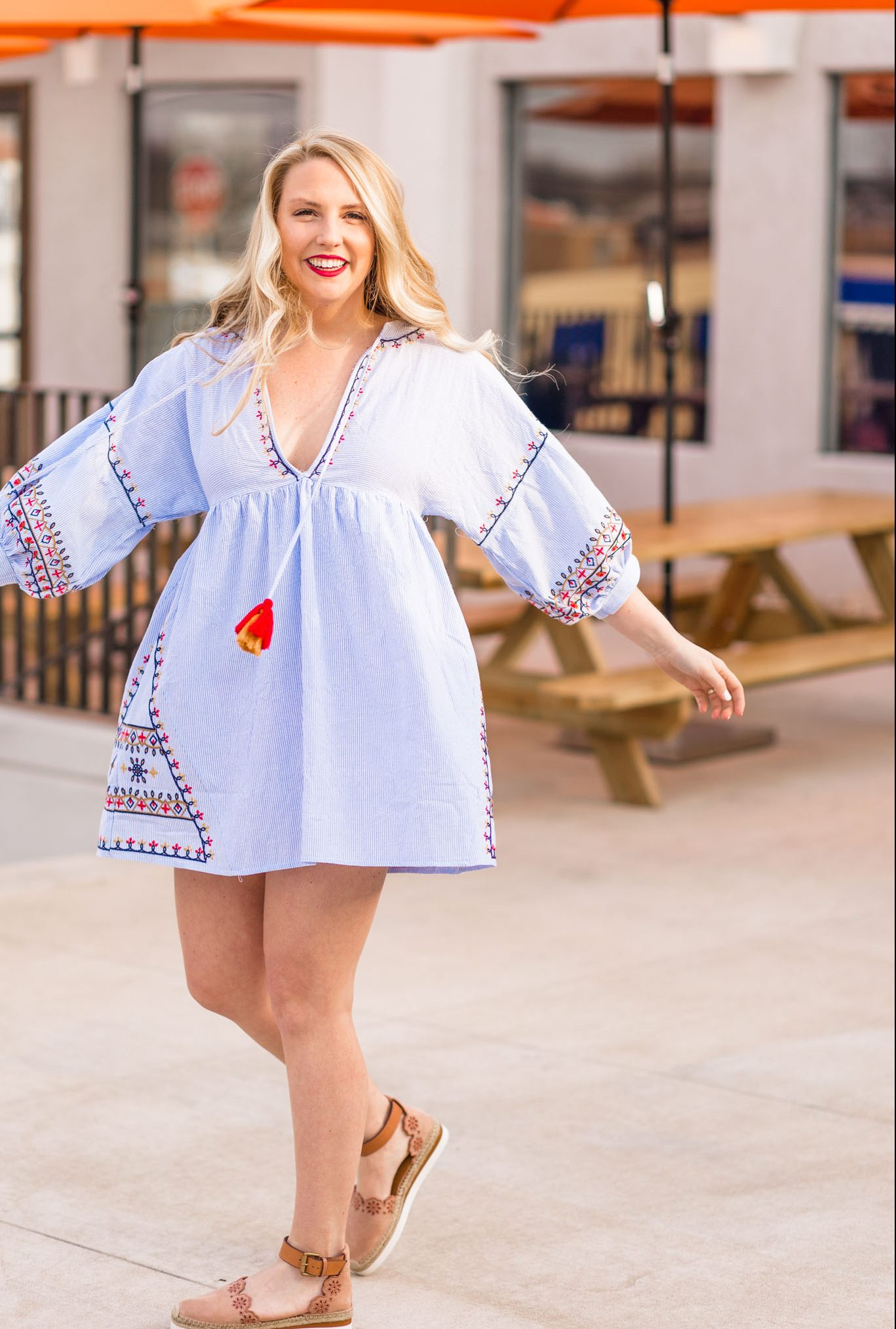 The striped embroidered dress you need this summer