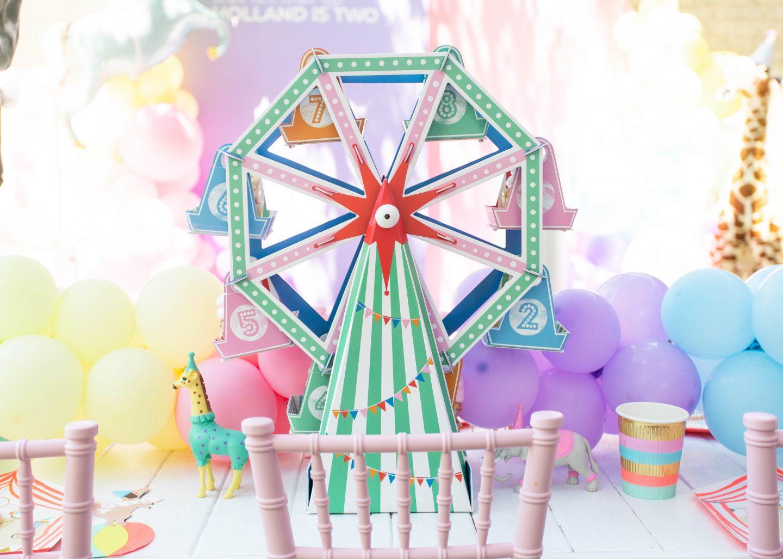 Cupcake Ferris Wheel, Carnival Birthday